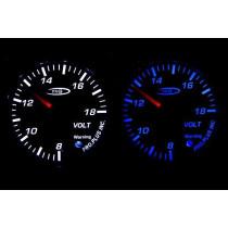 PRO RACING GAUGE 52mm - Töltés Kék&FEHÉR